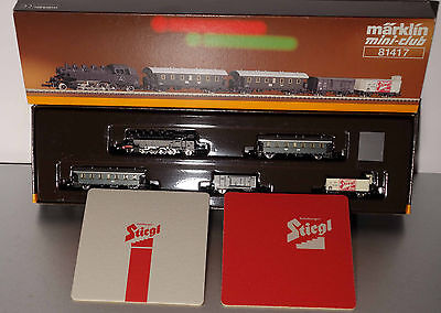 Marklin  Z:  81417  Austria Train Set with Steamloco and Passenger cars