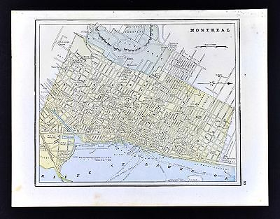 1891 Watson Atlas Map - Montreal City Plan - Quebec Canada College Churches