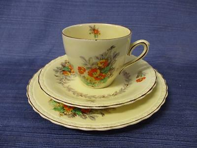 "Vintage MYOTT Staffordshire England ""Cecile"" Trio Cup Saucer Plate #3"