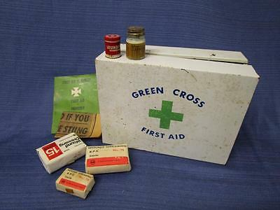 Vintage GREEN CROSS First Aid Kit Cabinet