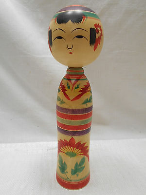 Kokeshi Japanese Doll Vintage Wooden Doll Traditional Style Handpainted #430