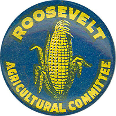 1936 Franklin Roosevelt AGRICULTURE COMMITTEE Campaign Button (6177)