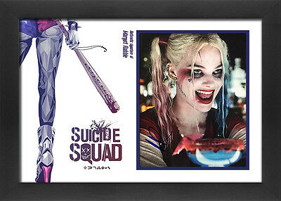 "Margot Robbie 12"" x 8"" signed Suicide Squad framed photo display"
