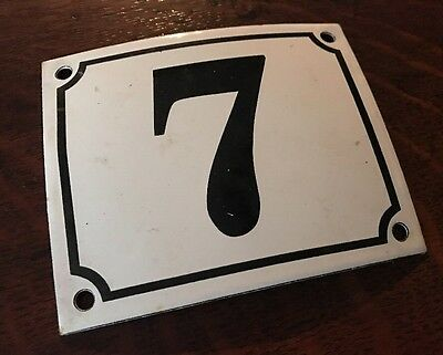 Vintage FRENCH Blue PORCELAIN DOOR HOUSE GATE Number Plate Sign 7