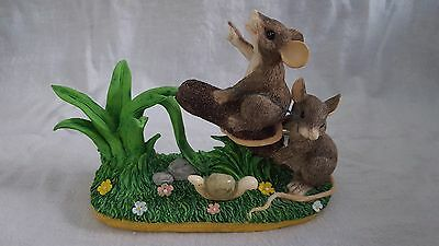 Cattail Catapult ~ Charming Tails ~ 87/448 (Fitz & Floyd Collectible)