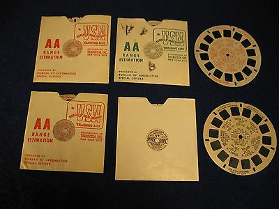 USN Vintage Range Estimation Viewmaster Reels set of 6 FREE SHIPPING In US