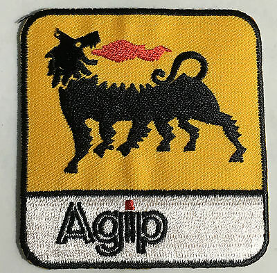 AGIP embroidered cloth patch.     D020302