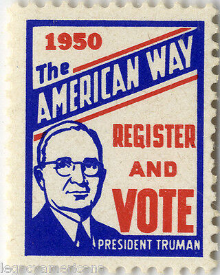 1950 Harry Truman Congressional Midterm Elections Voting Seal (2342)