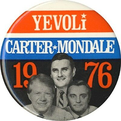 Scarce 1976 Carter Mondale New York Assembly Coattail Button (3017)