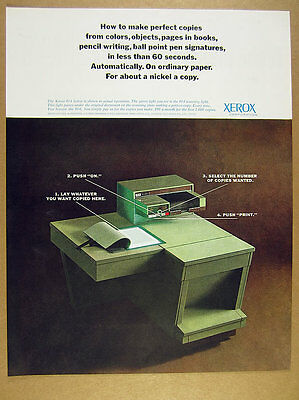 1962 Xerox 914 Copier copy machine photo vintage print Ad