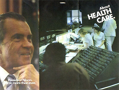 Official 1972 Richard Nixon Campaign Brochure HEALTH CARE (1448)