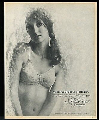 1970 pretty woman photo Maidenform Sea Dream lingerie bra vintage print ad