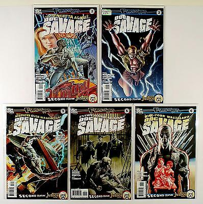Doc Savage First Wave Dc Lot Of 5 Comics #2 2 Variant 3 5 6 (Vf/nm)