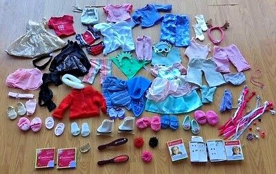 Huge Lot Over 100 Pieces American Girl Doll Clothes & Accessories