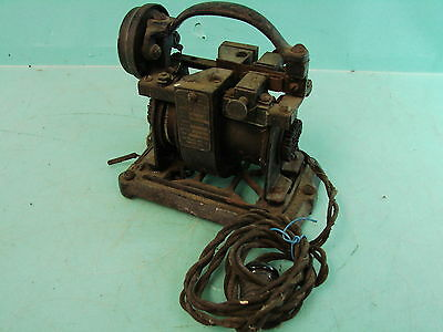 Antique Early The France Mfg Co Magnetic Rectifier Auto Battery Charger Ammeter