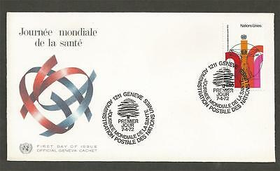 UNITED NATIONS - GENEVA -1972 World Health Day  - FIRST DAY COVER.