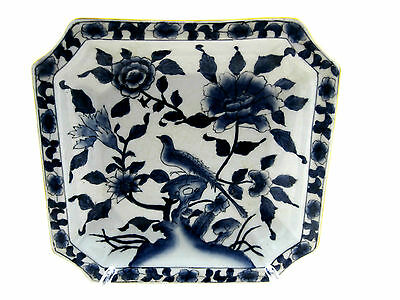ANTIQUE  Blue &White Porcelain Plate WITH MAKERS MARK  CHINESE