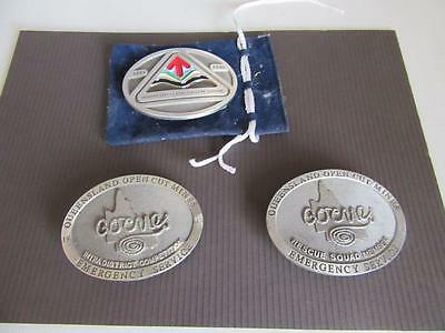 3 Mining Related Belt Buckles Lot 13