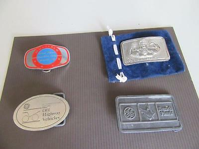 4 Mining Related Belt Buckles Lot 17