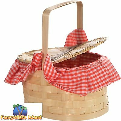 EASTER EGG BASKET PURSE PICNIC RED RIDING HOOD Fancy dress costume accessory