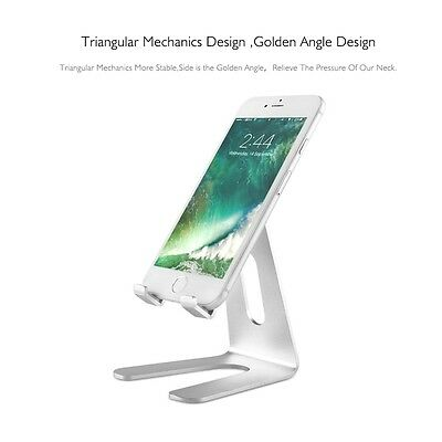 Phone Universal Holder Aluminum Metal Desk Stand for iPhone Samsung Huawei