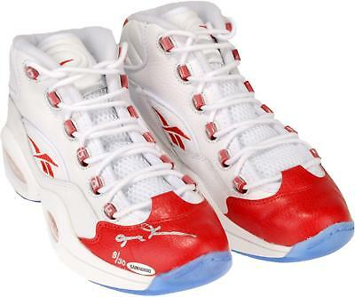 Allen Iverson Philadelphia 76ers Signed White & Red Reebok Question Sneakers