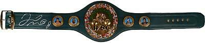 Floyd Mayweather Autographed Green Replica Boxing Championship Belt