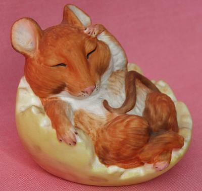 Country Life Design Studio Cute Mouse Asleep In An Apple