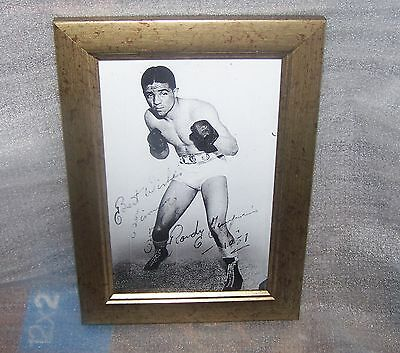 Boxing Photograph Signed By Randolph Turpin