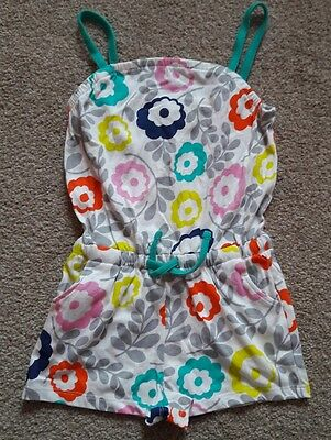 BNWOT. Mini Boden floral playsuit. 3-4