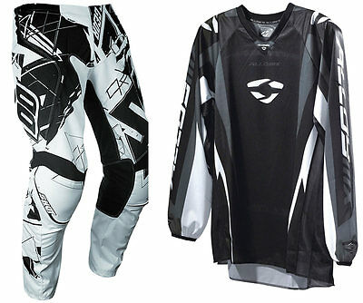SHOT CONTACT LIVE BLACK WHITE MOTOCROSS KIT PANT with ALLOY PULSE JERSEY