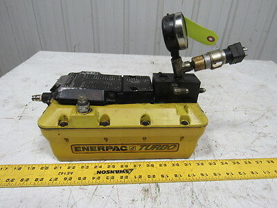 Enerpac Turbo High Pressure  Air driven Hydraulic Pump Hand or Foot Operated