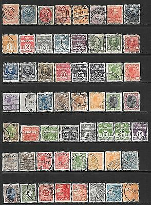 DENMARK Interesting Early Mint and Used Issues Selection (Feb 0046)