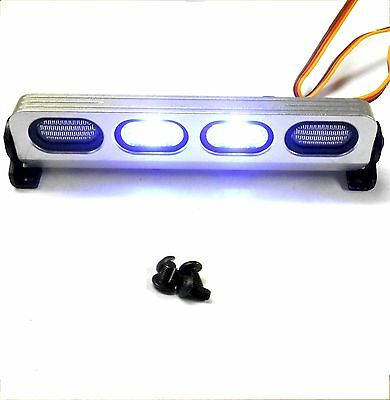 LY508 1/10 Scale Body Shell Direct Roof Mount RC White LED Light Bar Silver JR