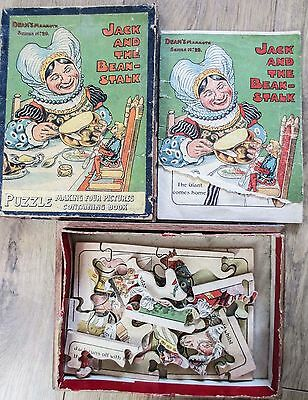 VINTAGE JIGSAW PUZZLE DEAN'S MAMMOTH SERIES No29 JACK AND THE BEANSTALK