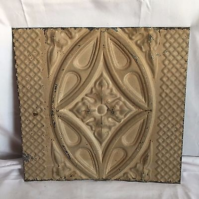 1890's 12 x 12 Antique Tin Ceiling Tile Brown Metal Reclaimed Anniversary 88-17