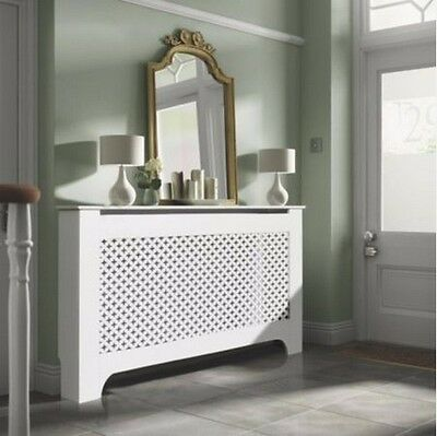 Colours Richmond Large White Painted Radiator Cover Cabinet