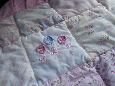 3 Items Patchwork Cot Quilt 2 Cot Duvet Covers Boy ?/Girl mothercare VINTAGE VGC