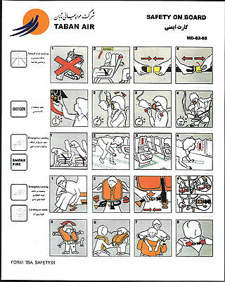 1 x TABAN AIR MD82-88 SAFETY CARD