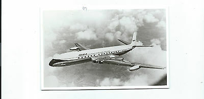 Malaysia Singapore airline issue postcard size Comet 4 photo.