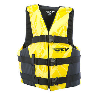 FLY Racing Adult Vest Life Vest Black/Yellow 2XL