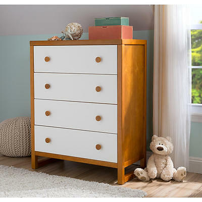 Delta Children Gramercy 4 Drawer Chest - Honey/White