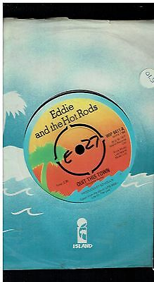 Eddie & The Hot Rods Quit This Town 45 1977