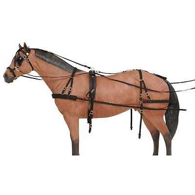 Tough 1 Deluxe Durable Nylon Horse Size Adjustable Driving Harness
