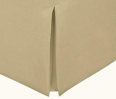 Chainstore Double Size Poly Cotton Non Iron Box Pleat Base Valance Coffee Cream