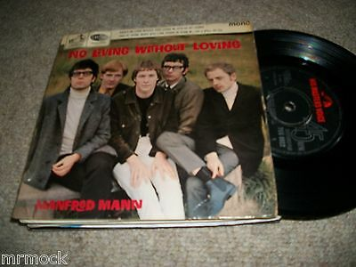 "Manfred Mann- No Living Without Loving Vinyl 7"" 45Rpm P/s Ep"