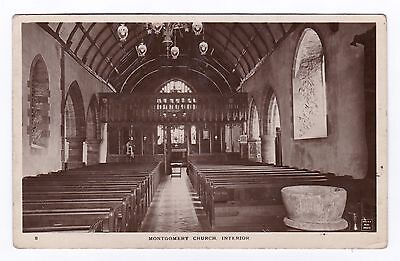 P3333 Original old RP postcard of Montgomery Church Interior