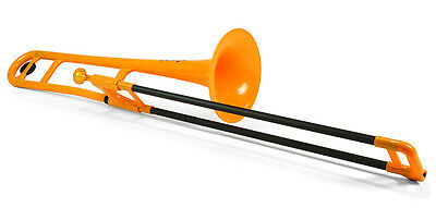 pBone Plastic Trombone, includes Bag & Mouthpiece, Orange (NEW)