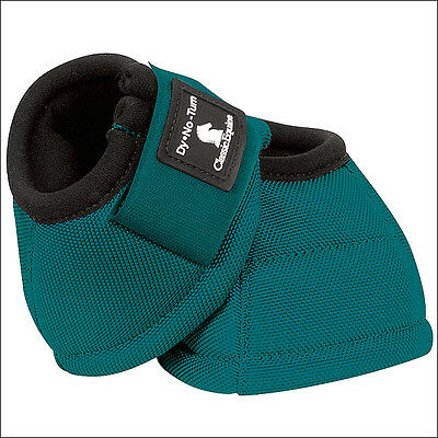 Small Classic Equine Dyno 2520D No Turn Horse Leg Bell Boots Pair Teal