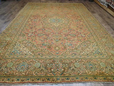 Ca1930s VG DYE ANTIQUE PERSIAN SULTANABAD MAHAL SAROUK 8x11 ESTATE SALE RUG